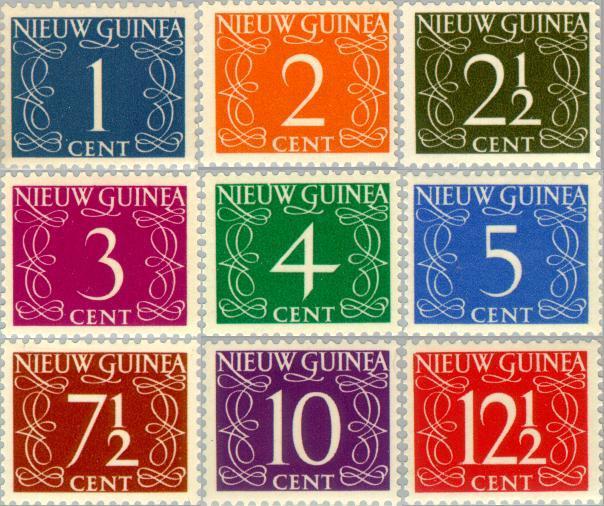 Postzegels In Nederlands Nieuw Guinea